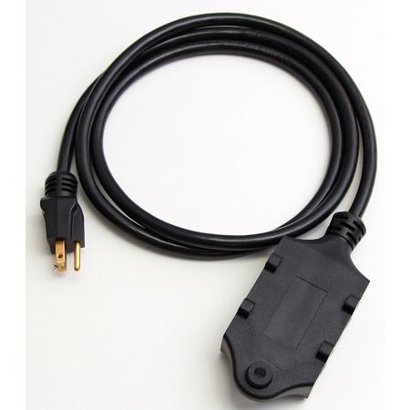 Milspec D19005771 12 / 3 Quad-Box with 20-Amp Receptacles Black 6 Foot