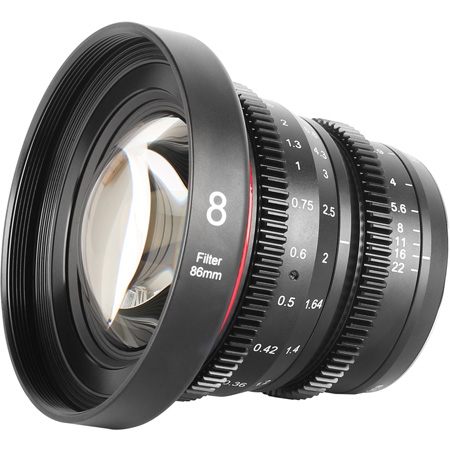Meike MK-8T29-MFT 8mm T2.9 Micro 4/3 Lens
