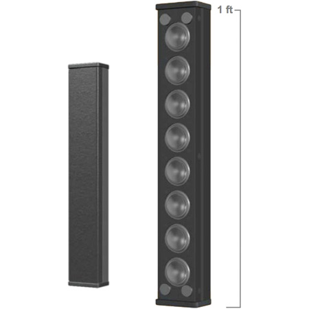 Innovox MLA-8-BLK Line Source Speaker - Eight 1 Inch Drivers - 12 Inch Line Length