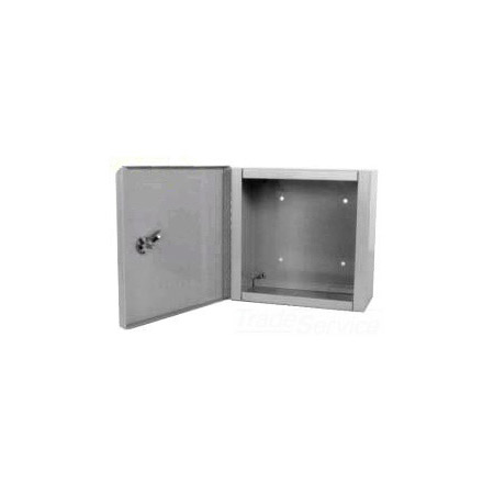 Milbank 10106-LC1 Indoor Surface Mount Hinged Cover Junction / Pull Box 10x10x6