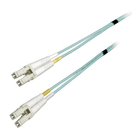 Camplex MMD50-LC-LC-100 50u/127u Fiber Optic Patch Cable Multimode Duplex LC to LC -Aqua - 100-Meter