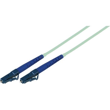 10-Meter 50/125 Fiber Optic Patch Cable Multimode Simplex LC to LC - 10-Gig Aqua