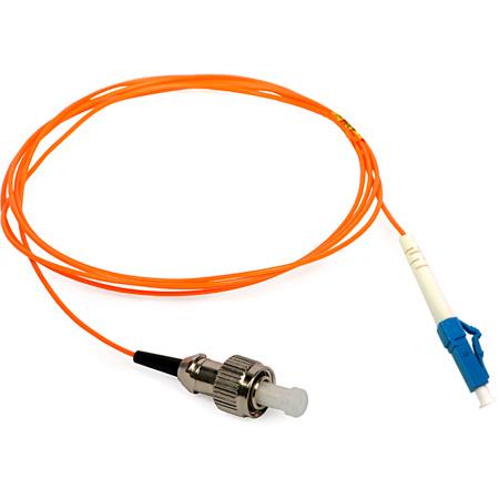 1-Meter 62/125 Fiber Optic Patch Cable Multimode Simplex ST to LC - Orange
