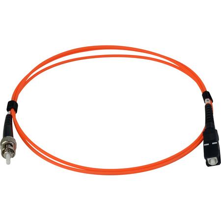5-Meter 62/125 Fiber Optic Patch Cable Multimode Simplex ST to SC - Orange