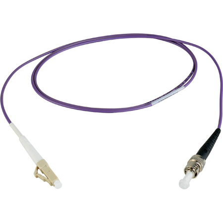 Camplex MMSM4-LC-ST-001 OM4 10/40/100G Multimode Simplex LC to ST Fiber Patch Cable - Purple 1 Meter