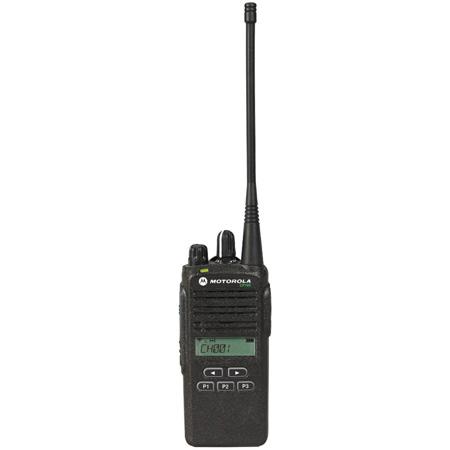 Motorola CP185-U 2-4 Watt - 16 Channel - Analog - UHF - 2 Way Radio - 435-480 MHz Display
