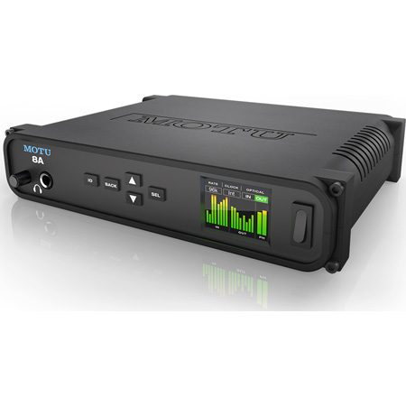 Motu 8A Thunderbolt USB3/AVB Ethernet Audio Interface with DSP and Mixing