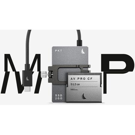 Angelbird MPPCC6K1TBPK512C Match Pack for Blackmagic Design Pocket Cinema Camera 6K 1 TB SSD2go PKT Gray - 512 GB CFast