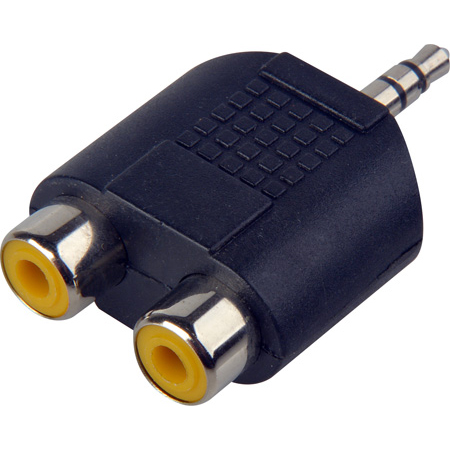 Connectronics 3.5MM Stereo to Dual RCA-F Adaptor