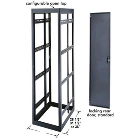 MRK-4031 40 Space Rack Enclosure 29 Inch Deep with Rear Door