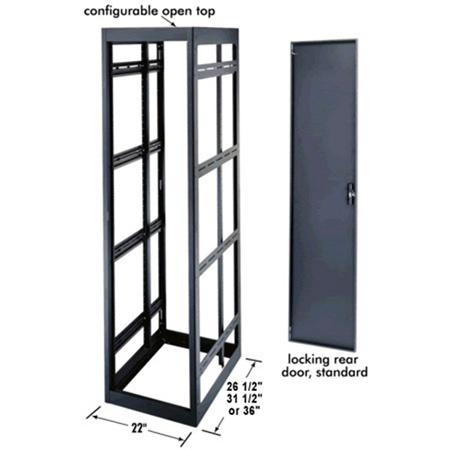 MRK-4426 44 Space Rack Enclosure 24 In. Deep with Rear Door