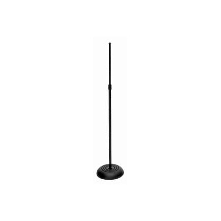 On-Stage Round Base 33In to 60In Height Black 10In Base Diameter 8Lbs