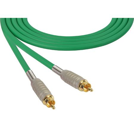 Sescom MSC3RRGN Audio Cable Mogami Neglex Quad RCA Male to RCA Male Green - 3 Foot