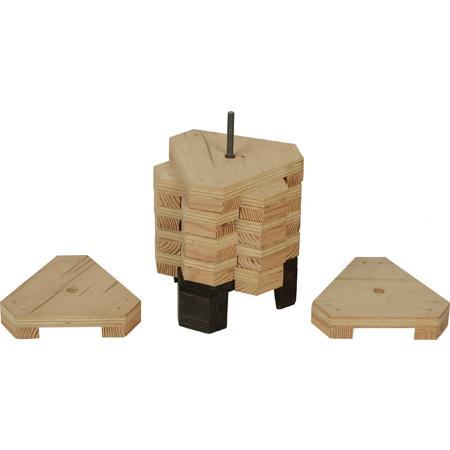 Matthews 259570 2-Inch Elephant Block Set with Holder - 10-Piece Set
