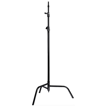 MSE 40 Inch C Stand w/Spring Loaded Base- Black