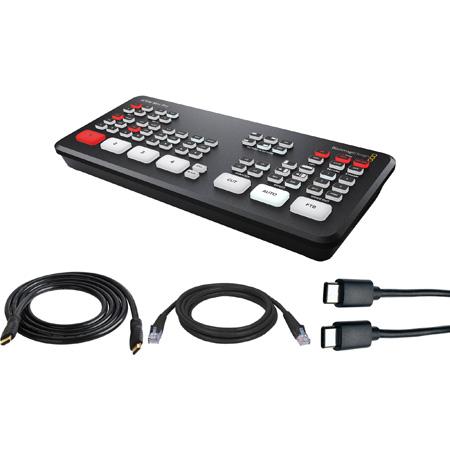 Blackmagic Design ATEM Mini Pro Live Production HDMI Switcher Kit with HDMI/USB/CAT5 Cables for Mac