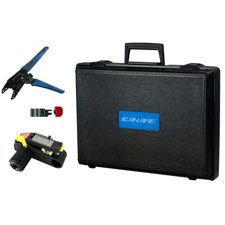 Canare Crimp Kit with TC1 Crimp Tool TS100E Stripper TS-C blade and TB-2A Storage Case