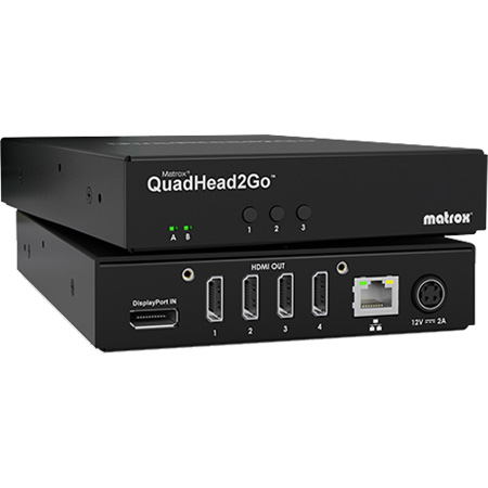 Matrox QUADHEAD2GO Multi-Monitor Controllers Video Wall Processor