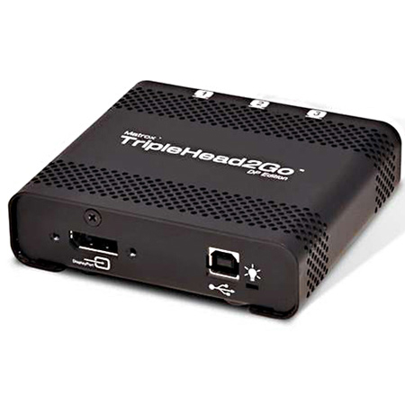 Matrox T2G-DP-MIF TripleHead2Go Thunderbolt/DisplayPort Multi-Display-PC and Mac