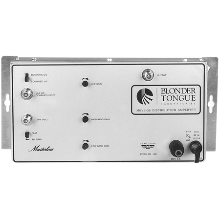 Blonder Tongue MUVB-35 UHF/VHF Distribution Amplifier