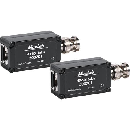 MuxLab 500701 3G HD-SDI Over CAT5 Balun - 2-Pack