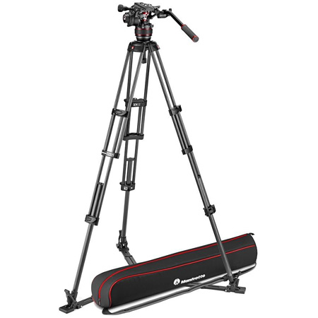 Manfrotto MVK608TWINGCUS Nitrotech 608 & Carbon Fiber Twin Leg Tripod with Ground Spreader