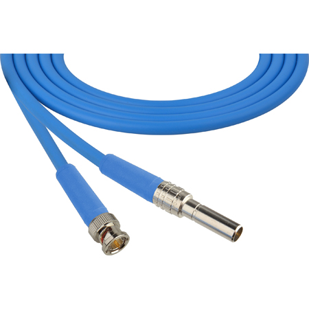 Laird MVP-BNC-BE12 Canare L-4CFB Mid-Size Video Patch Plug Male to BNC Video Patch Cable - 1 Foot Blue