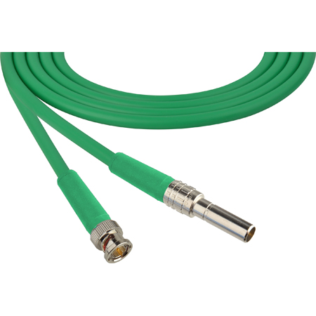 Laird MVP-BNC-GN24 Canare L-4CFB Mid-Size Patch Plug Male Mini-WECO Equivalent to BNC Video Patch Cable - 2 Foot Green
