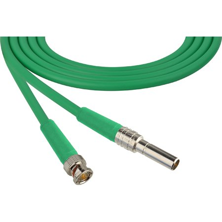 Laird MVP-BNC-GN24 Canare L-4CFB Mid-Size Video Patch Plug Male to BNC Video Patch Cable - 2 Foot Green
