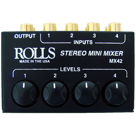 Rolls MX42 4 Channel Stereo Passive Mixer