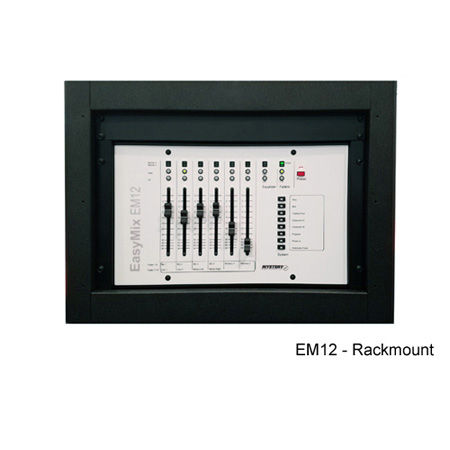 Mystery EM12 Rackmount DSP Control Surface - 6 Physical (12 Virtual) Motorized Faders Includes Customized Overlay