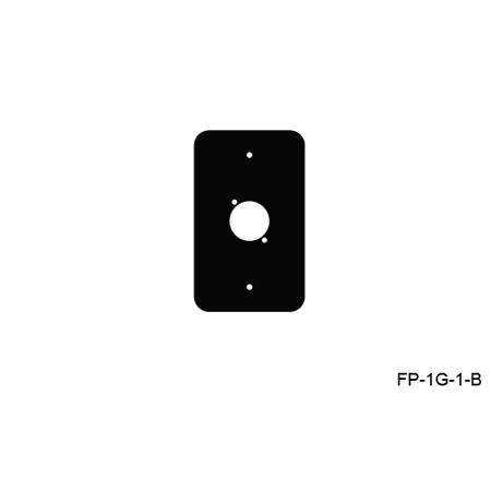 Mystery FP-1G-1-B 1-Gang Black Wall Panel 1 Each Neutrik D