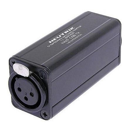 Neutrik NA2F-D0B-TX 3 Pole XLR Female - RCA / Phono Socket Adapter - Black Coded
