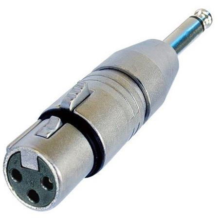Neutrik NA2FP 3-Pin XLR Female to 1/4 Inch Mono Phone Plug Adapter