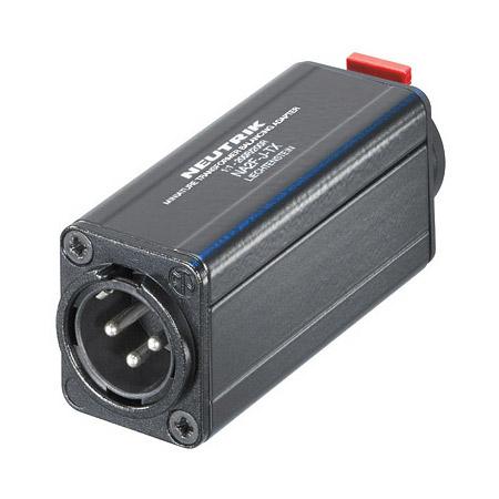 Neutrik NA2M-J-TX 3 Pole XLR Male - 1/4 Inch Jack Balancing Adapter