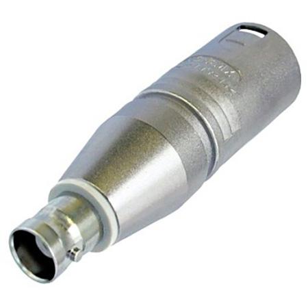 Neutrik NA2MBNC 3 Pole XLR Male to BNC Female Adapter