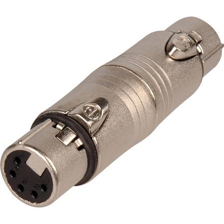 Neutrik NA5FF 5 Pin XLR Female to Female Adapter - Wired