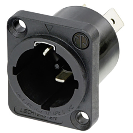 Neutrik NAC3MPX-WOT-TOP Receptacle - powerCON TRUE1 TOP - Male - Power in - 1/4in Flat Tab Terminals - without Tang - IP