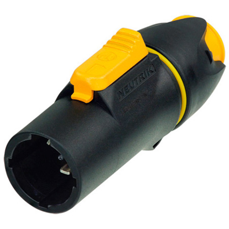 Neutrik NAC3MX Male powerCON TRUE1 Screw Terminal  IP65 Cable Connector - Black/Yellow