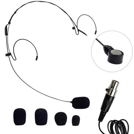 Nady HM-20U HeadMic Unidirectional Condenser Headworn Mic w/XLR - Black