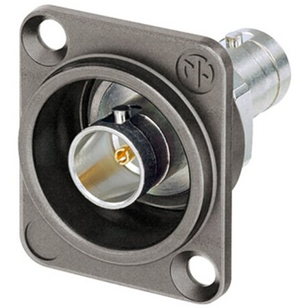 Neutrik NBB75DFGX Grounded 75 Ohm 4K/8K 12G-SDI UHD D-Style Chassis Mount BNC Connector