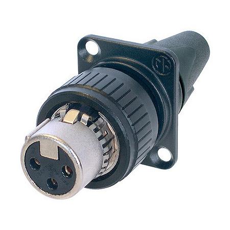 Neutrik NC3FDX-EMC-SPEC 3-Pin XLR Fmale EMC-XLR Cable End with Panel Mount