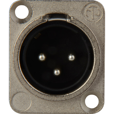 Neutrik NC3MD-L-1 3-Pin XLR Male Panel/Chassis Mount Connector - Solder Cups