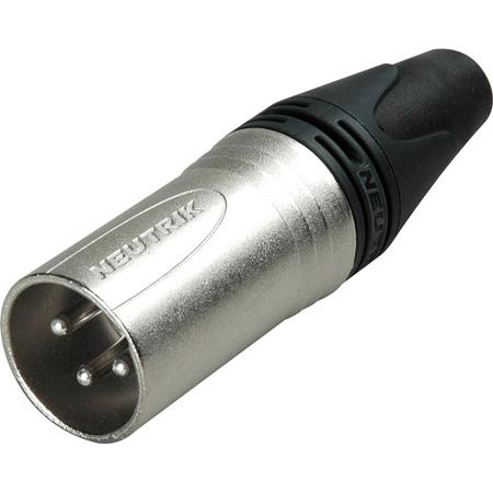 Neutrik NC3MXX 3 Pin Male XLR Cable Connector - Nickel/Silver