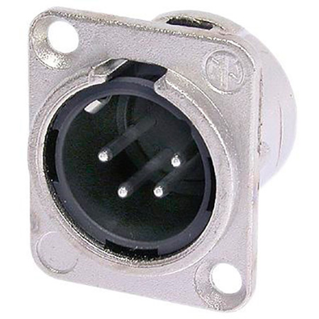 Neutrik NC4MD-L-1 4-Pin XLR Male Panel/Chassis Mount Connector