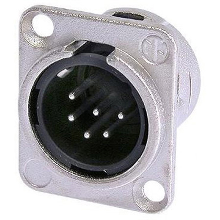 Neutrik NC6MD-L-1 6-Pin XLR Male Panel/Chassis Mount Connector