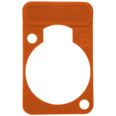 Neutrik DSS-Orange D-Series XLR Lettering and ID Plate Orange