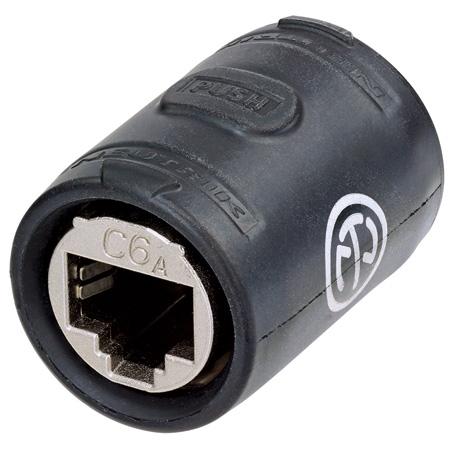 Neutrik NE8FFX6-W etherCON CAT6A Feedthrough Coupler for Cable Extensions