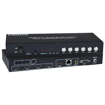NTI splitmux-c5hdr-4lc Low-Cost HDMI Quad Screen Splitter/Multiviewer/Extender