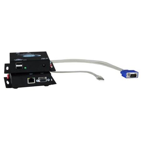 NTI ST-2C5USBV-L-300 VGA USB KVM Transmitter Supporting Two Remote Users - 300 Feet